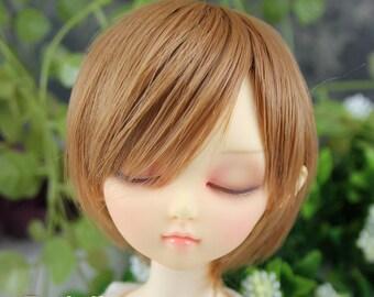 Fatiao - New Dollfie MSD Kaye Wiggs 1/4 BJD Size 7-8 inch Dolls Wig - Brown