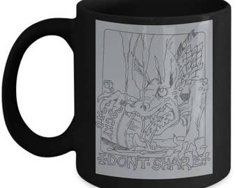 Dragon I Don't Share Ice Cream Coffee Mug