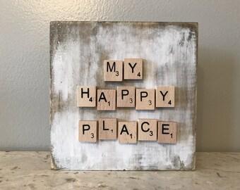 My Happy Place Shelf Sitter