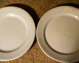 Antique Ironstone Plates- Tunstall & Royalstone