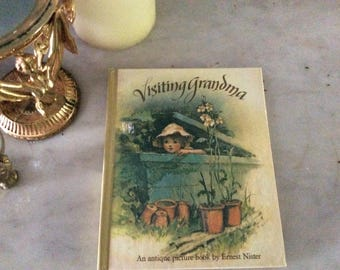 Vintage Antique picture book Visiting Grandma  exquisitely rendered scenes in pop up and pull out tab form