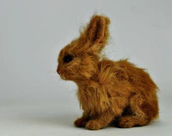 Needle Felted  bunny, Basket bunny, Easter rabbit, Realistic baby rabbit, Needle felted basket bunny. Easter collection 2017