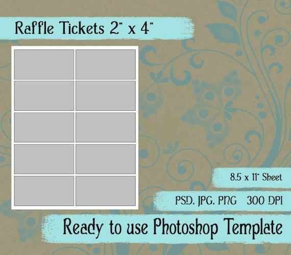 digital template  raffle ticket diy digital raffle ticket