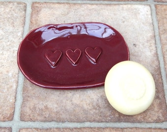 Soap dish handmade stoneware pottery ceramic soapdish