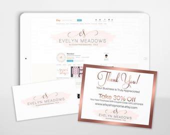 30% OFF SALE Etsy Shop Branding - Branding Packages - Logo Branding - Etsy Shop Covers - Advance Startup II - Logo Branding 103-17