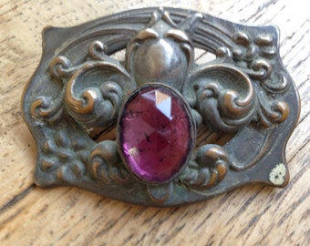 Art Nouveau Metal Sash Pin