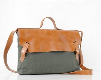leather laptop bag Leather cross body bag Leather messenger bag laptop bag military waxed canvas bag leather school bag
