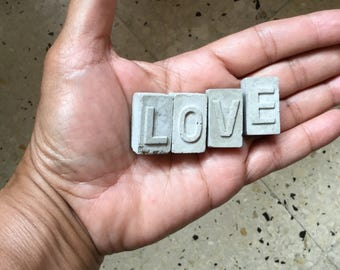 Cement letters