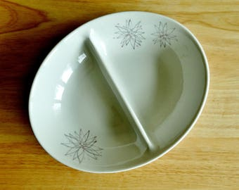 Beautiful Vintage Caribe Casual Divided Vegetable Serving Bowl