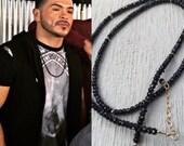 Unisex Black Spinel Long Necklace Gold And Black Necklace Worn By Dancer Gilbert  Saldivar Chocolate City 2
