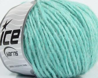 Peru Alpaca Worsted Yarn Aqua Blue #48982 Ice Merino Wool Alpaca Acrylic 50g 98y