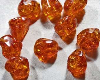 Imitation Amber Beads, Destash Bargain Beads, Jewelry Making and Beading Supplies