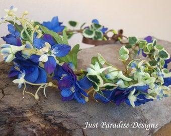 Flower Halo - Crown - Purple Blue