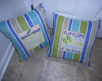 Beach House  -   18 Inch Throw Pillow