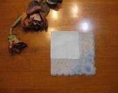 Light Blue Hankie, Flowered Handkerchief, Vintage Collectible, Vintage  Hanky, Bride Hankies, Wedding Hankies  by NormasTreasures on etsy