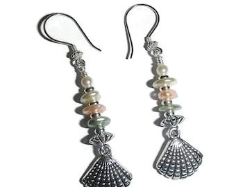 Sea Shell Earrings  Beach Jewelry Beach Earrings Summer Jewelry Summer Earrings Beachy Resort