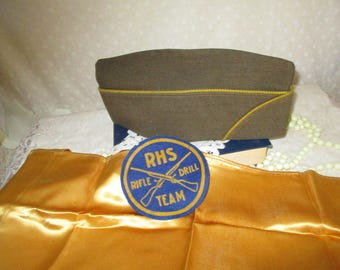 RHS Rifle Drill Team Badge hat and Dicky