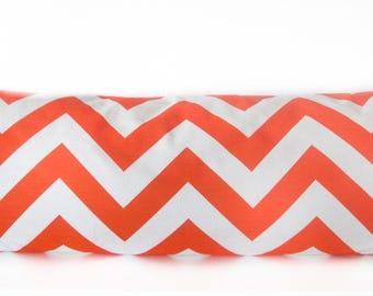Pillow Cover - Orange - Chevron - Zig Zag - White - Cushion Cover
