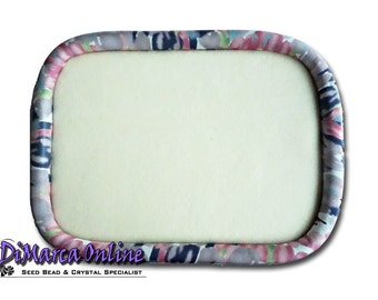 "Oblong 30x23 cm Beading Tray Silaba ""Rose Purple Watercolour"""