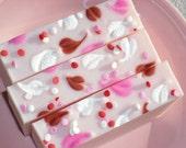 Love Spell Soap / Valentine Soap / pink soap / Heart Soap / Feminine soap / Cold Process Handmade Soap