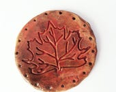 Red Maple Autumn Decor Leaf Start for Pine Needle Basket