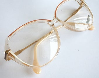 Vintage Deadstock 1980's Rodenstock Clear and White Plastic Eyeglasses