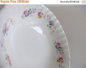 ON SALE Vintage Serving bowl, W S George Bolero, Floral pattern Dish