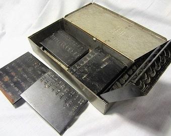 Ace Drill Corporation Metal Drill Box Vintage, Small Storage Box, Repurpose Metal Box, Drill Bit Storage, Drill Bit Markers, Drill Bit Kit