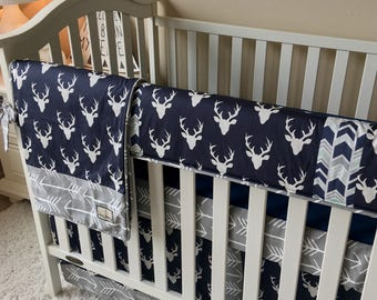 deer crib bedding | etsy