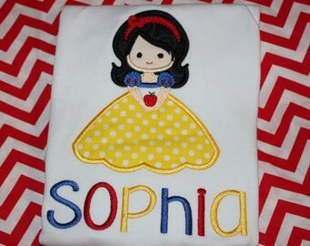 Snow White Disney or birthday shirt or ruffle dress- Disney trip birthday shirt- any number