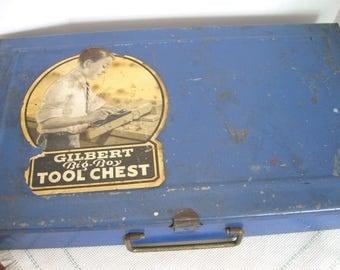 "Vintage Gilbert ""Big-Boy"" Blue Metal Tool Chest No. 1"