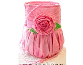 bag / purse / pink party purse with antique quilt rose one of a kind