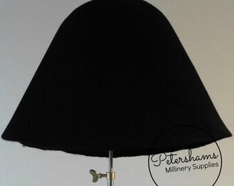Rabbit Fur Felt Cone Hat Body for Millinery & Hat Making - Black