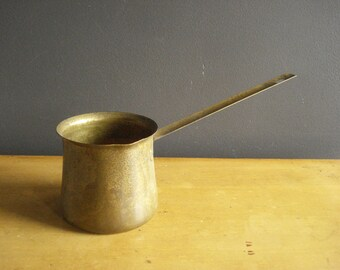 Brass Dipper or Coffe Pot - Brass Ladle - Metal Kitchen Utensil