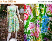 SALE 30% OFF 80s Dress, Spring Dress, 80s Sundress, Vintage Dress, Vintage Sundress, Floral Dress by F.A.I. in Happy Spring Floral Colors Si