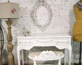 RESERVE LISTING Painted Cottage Chic Shabby Romantic Vanity Stool