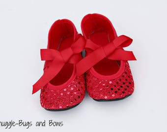 Ruby Red Play Slippers (Sizes 1 - 12) MEASURE your child's foot PLEASE
