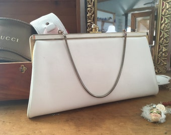 White Vintage Clutch, Gold and White Clutch, Gold Clutch, Vintage purse, Gold and White Clutch, Evening Bag