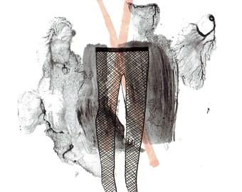 minimalist  ink print: fishnets