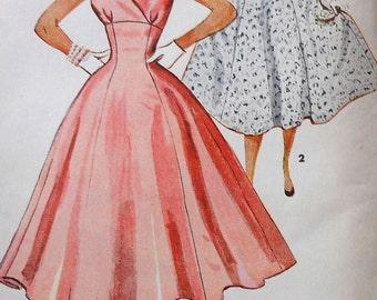 Vintage Dress Sewing Pattern Simplicity 4706 Size 12