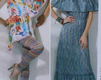Dress and Gown Sewing Pattern UNCUT McCalls M6558 Sizes 18-24 Plus Size