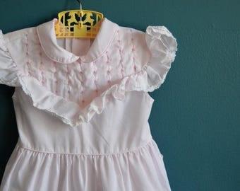 Vintage Pale Pink Sleeveless Polly Flinders Dress - Size 4T