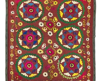 SALE for Antique Uzbekistan suzani handmade embroidery, suzani fabric, suzani, wall hanging, vintage suzani, wall decor suzani, rare suzani