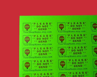 30 Personalized DO NOT BEND Labels. 1 Sheet of Neon Green 1-Inch Labels. Color. 5301