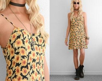 90s Floral Dress 90s Grunge Dress Mini Dress Rayon Floral Mini Dress Rayon Dress 90s Vintage Floral Dress 90s Dress Spaghetti Strap Dress XS