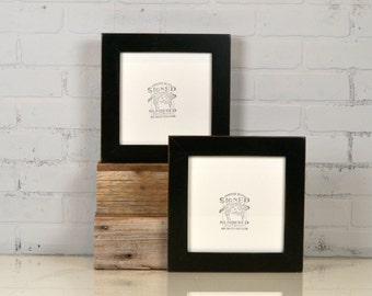 8x8 Square Picture Frame in 1.5 Standard Style with Vintage Black Finish - IN STOCK Same Day Shipping - 8 x 8 Photo Frame