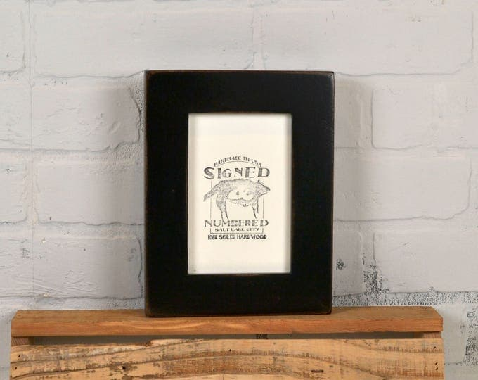"4x6 Picture Frame in 1.5"" Standard Style with Vintage Black Finish - IN STOCK - Same Day Shipping - SALE 4 x 6 Photo Frame Rustic Black"