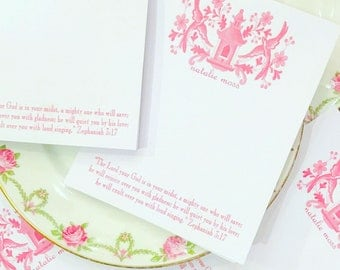 Pink, blue or green pagoda scripture pads