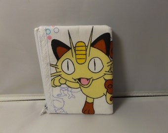 Pokemon-Meowth Coin Purse-Handmade
