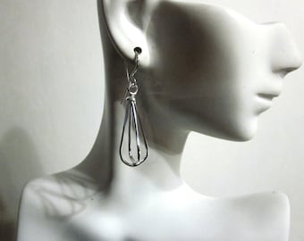 Bella's Sterling Cage Earrings